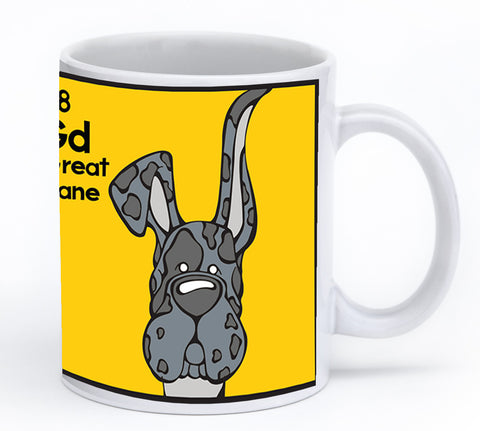 Merle Great Dane Up & Down Ears Mug