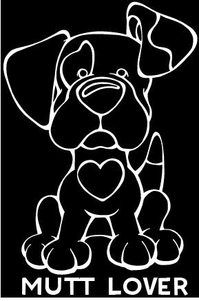 Mutt Lover Decal Dog
