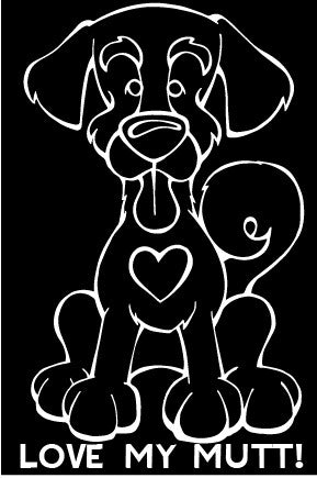Love My Mutt Decal Dog