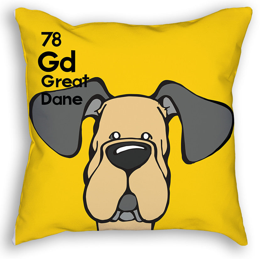 Fawn Great Dane Natural Ears Pillow