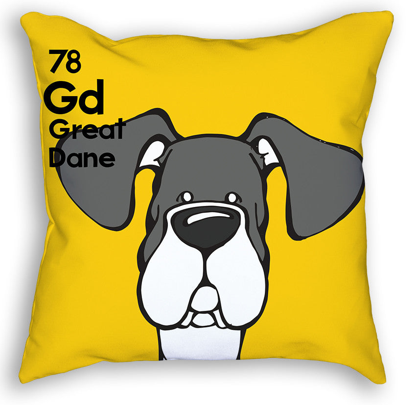 Mantle Great Dane Natural Ears Pillow