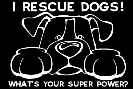 I Rescue Dogs Paws Decal Dog