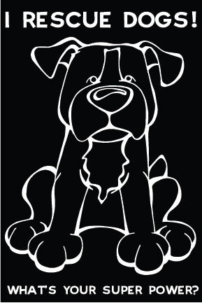 I Rescue Dogs Decal Dog