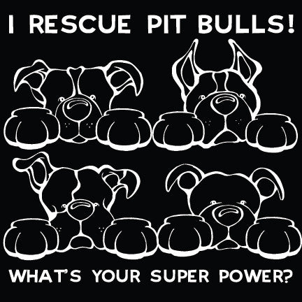 I Rescue Pit Bulls Paws Decal Dog