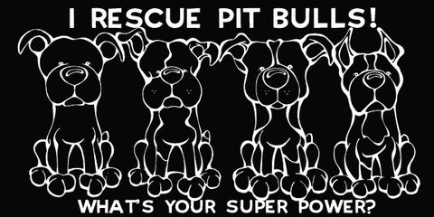 I Rescue Pit Bulls Decal Dog