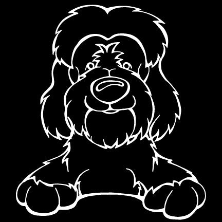 Tibetan Terrier Flying Decal