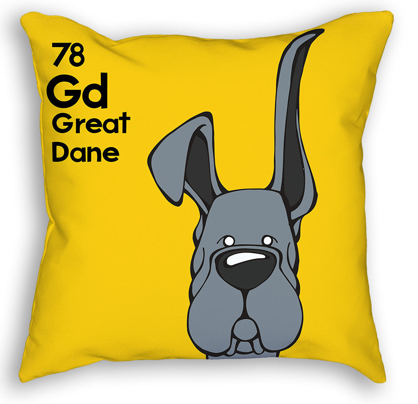 Blue Great Dane Up & Down Ears Pillow
