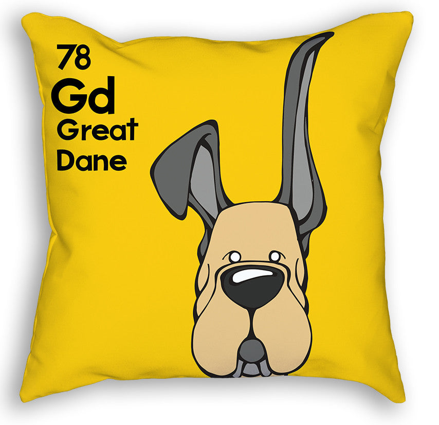 Fawn Great Dane Up & Down Ears Pillow