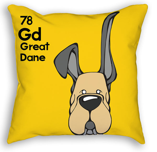 Fawn Great Dane Up & Down Ears Pillow – Angry Squirrel Studio