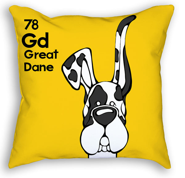 Harlequin Great Dane Up & Down Ears Pillow – Angry ...