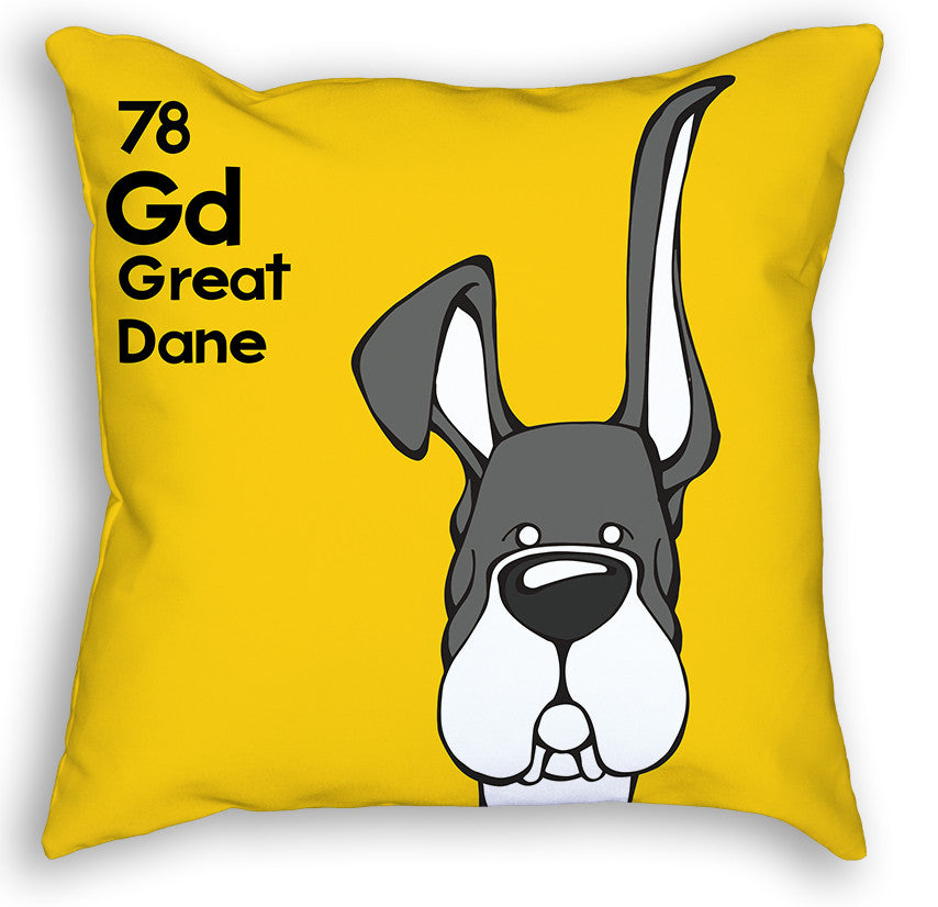 Mantle Great Dane Up & Down Ears Pillow