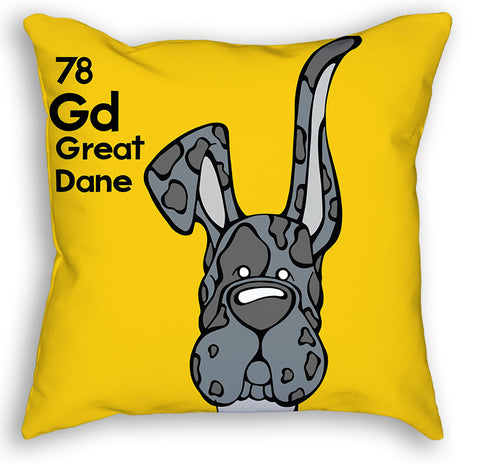 Merle Great Dane Up & Down Ears Pillow