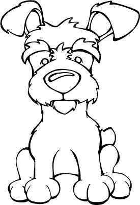 Yorkipoo Decal Dog