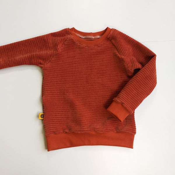 Sweater velours roest