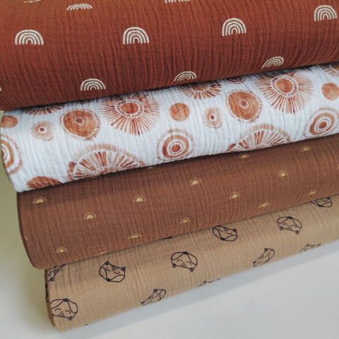 Double gauze print roest