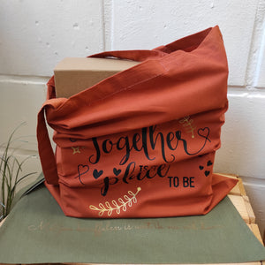 "tote bag ""Together is my favourite place to be"""