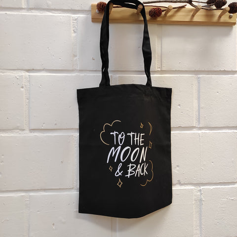 "Tote bag ""To the moon and back"""