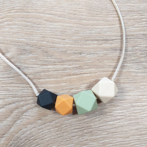 Bijtketting hexagon mango-groen