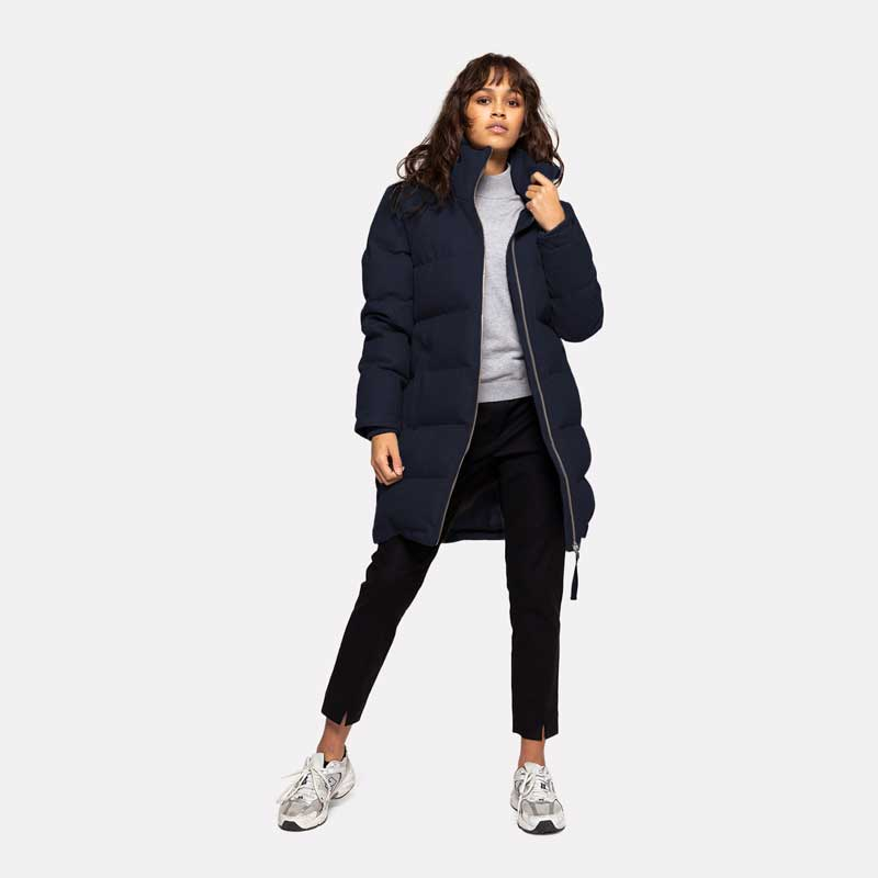 Selfhood Navy Puffa Coat