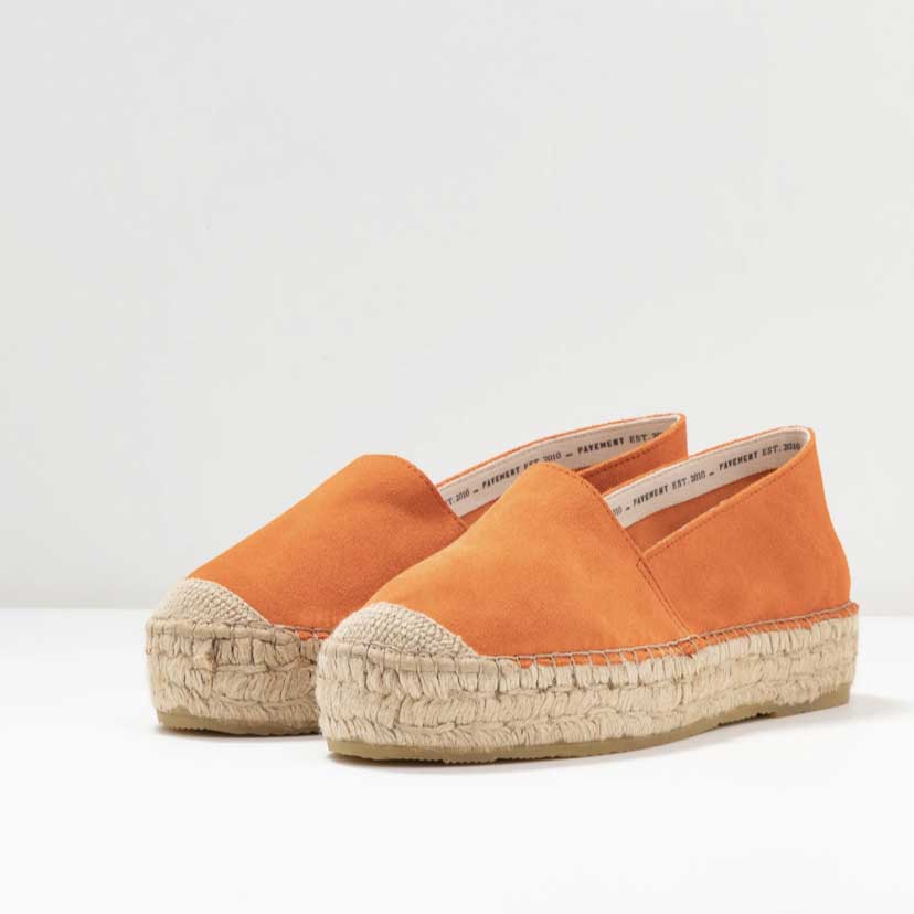 Pavement Orange Espadrilles