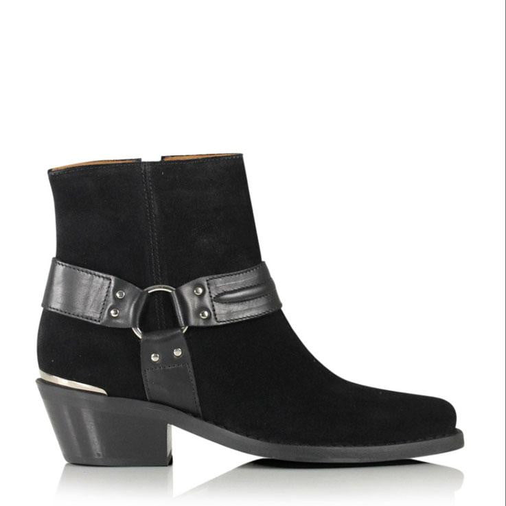 Billi Bi Black Piston Boots