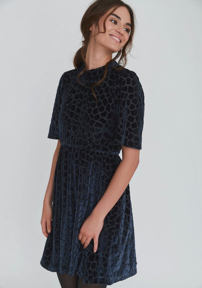 Dry Lake Sigrid Navy Giraffe Dress,Dresses,Dry Lake,Ooh! Ruby Shoes