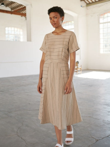 Sita Murt Beige Stripe Dress,Dresses,Sita Murt,Ooh! Ruby Shoes
