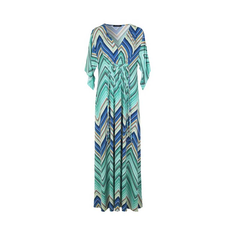 Ilse Jacobsen Regatta Aqua Maxi Dress