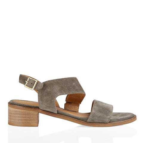 Pavement Sina Grey Suede Sandals