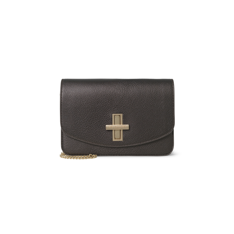 Ilse Jacobsen Brown Metallic Cross Body Bag