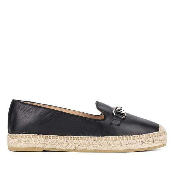 Kanna Black Flat Espadrilles,Loafers,Kanna,Ooh! Ruby Shoes