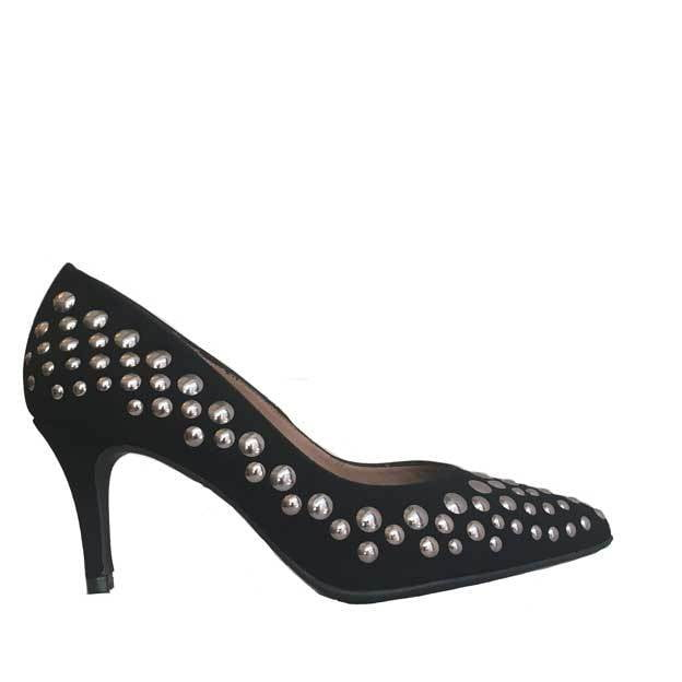 Marian Black Stud Heels,Heels,Marian,Ooh! Ruby Shoes