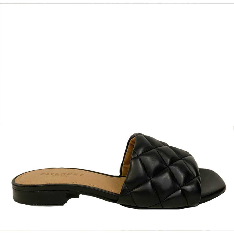 Pavement Black Alva Sandals