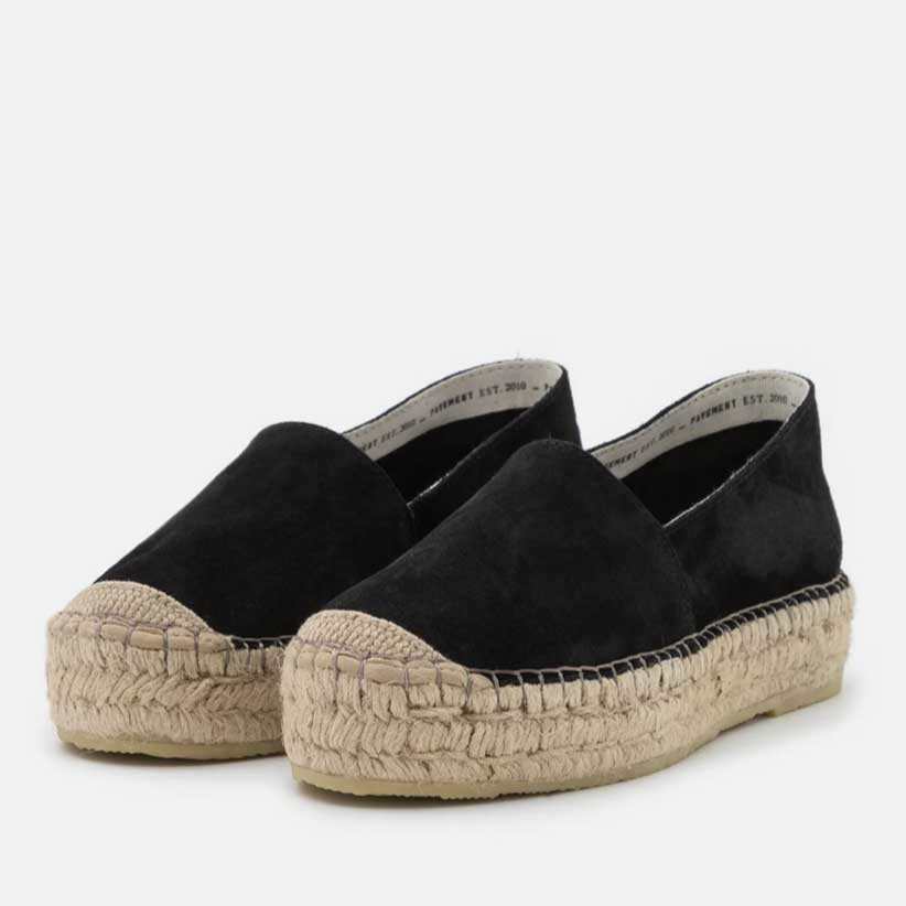 Pavement Black Suede Espadrilles