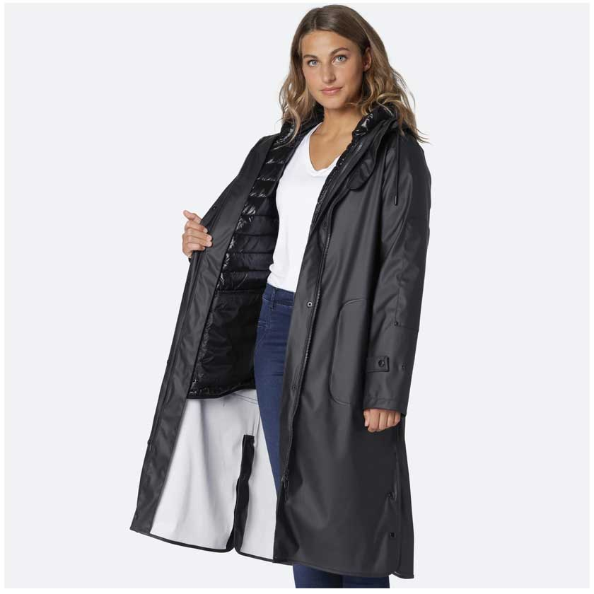 Ilse Jacobsen Black 3 in 1 Coat