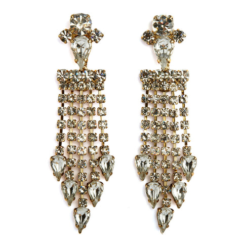 Rays chandellier earrings - crystal