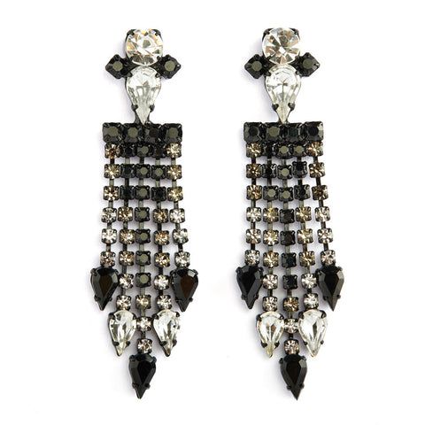 Rays chandellier earrings - degrade