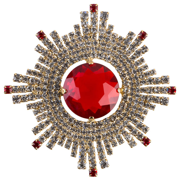 Brooch I AM A STAR red