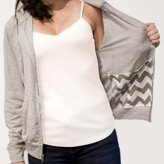 Post Mastectomy Hoodie with Surgical Drain Pockets