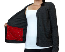 Load image into Gallery viewer, Mastectomy Cardigan with Drain Pouch Surgical Pockets