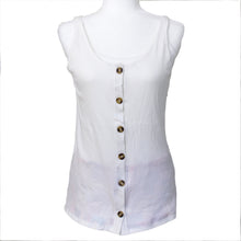 Load image into Gallery viewer, Mastectomy Recovery Button Down Tank with Surgical Drain Pockets