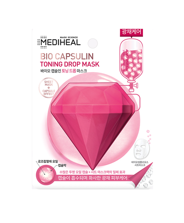 MEDIHEAL BIO CAPSULIN TONING DROP MASK [PACK OF 5]
