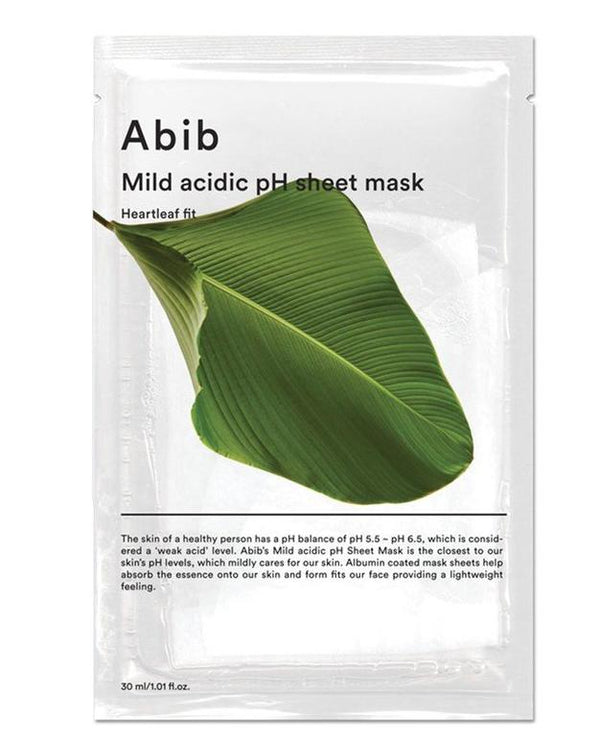 ABIB MILD ACIDIC PH SHEET MASK HEARTLEAF FIT (PACK OF 10)