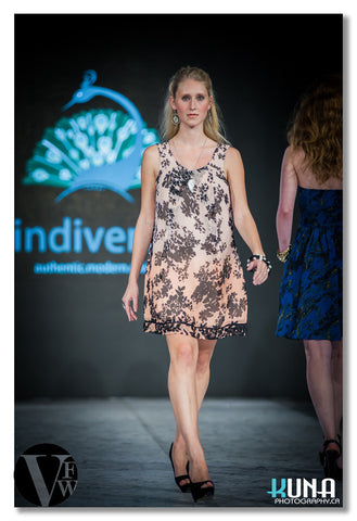 Tunic Dress in Floral Print - Indiverve