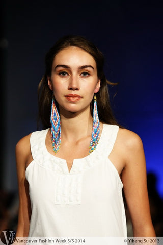 Tribal Beaded Earrings - Indiverve