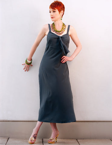 Maxi Dress in Charcoal Grey - Indiverve