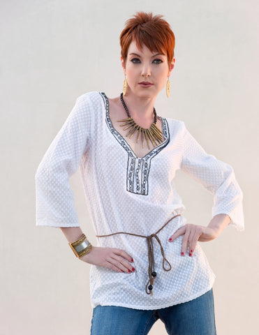 Embellished Tunic Top - Indiverve