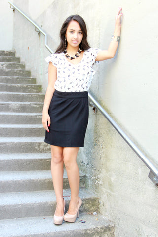 Black & White Dress in Two Tone - Indiverve