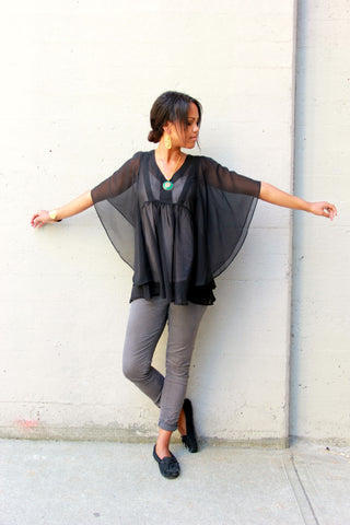 Sheer Poncho Top