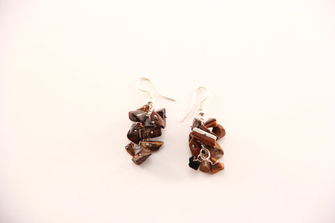 bronze stone earrings